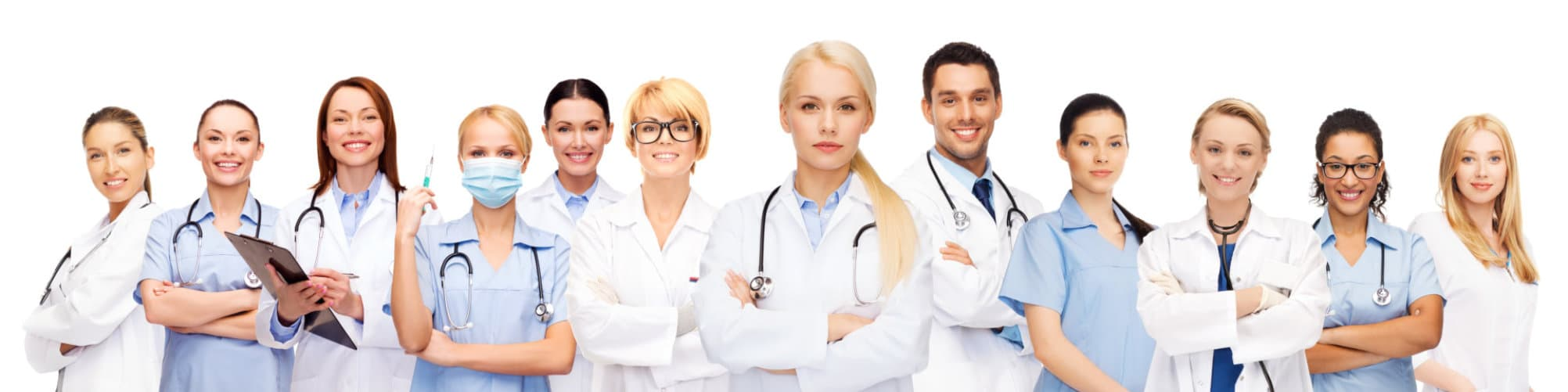 Team or group of doctors and nurses.